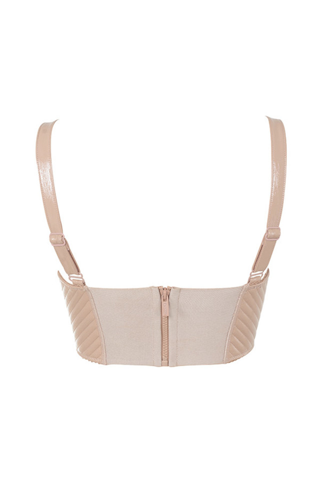 chloe top in nude