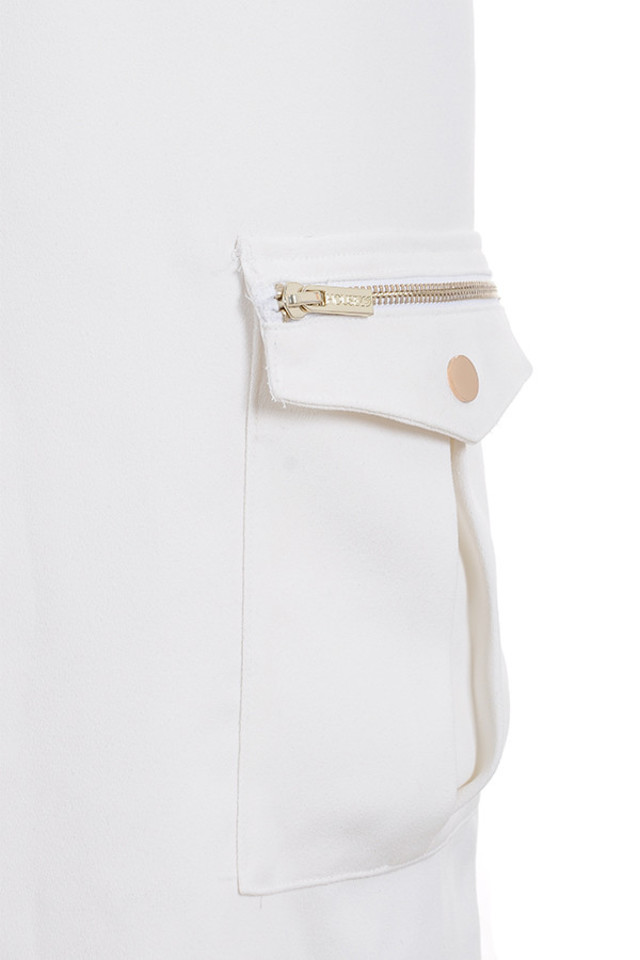 white lucille pants