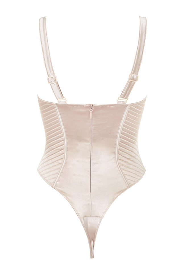 sabrine top in champagne