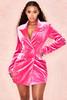 Cristalle Pink Velvet Blazer Dress