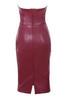 saskia dress in burgundy