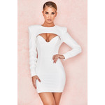 Olinda White Crepe Cut Out Mini Dress