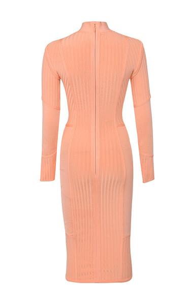 dana dress in peach
