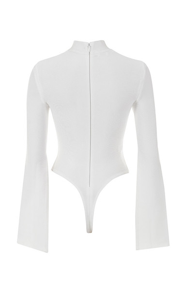 leandra top in white