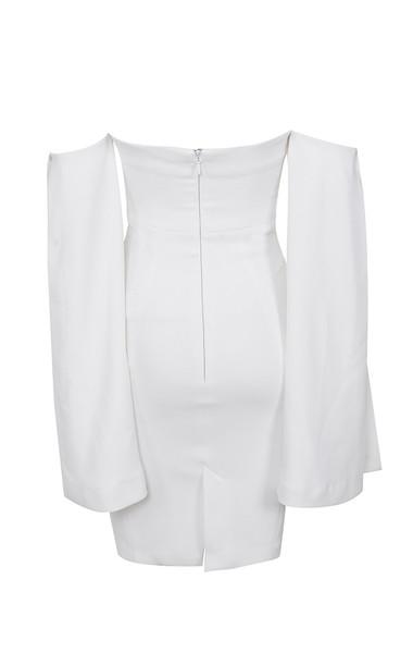 rhea dress in white
