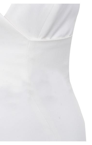 white tiffany dress