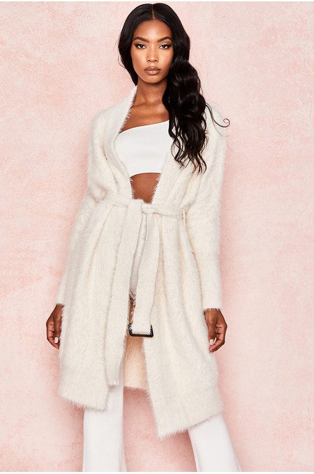 Adriana Cream Soft Mohair Oversized Cardigan