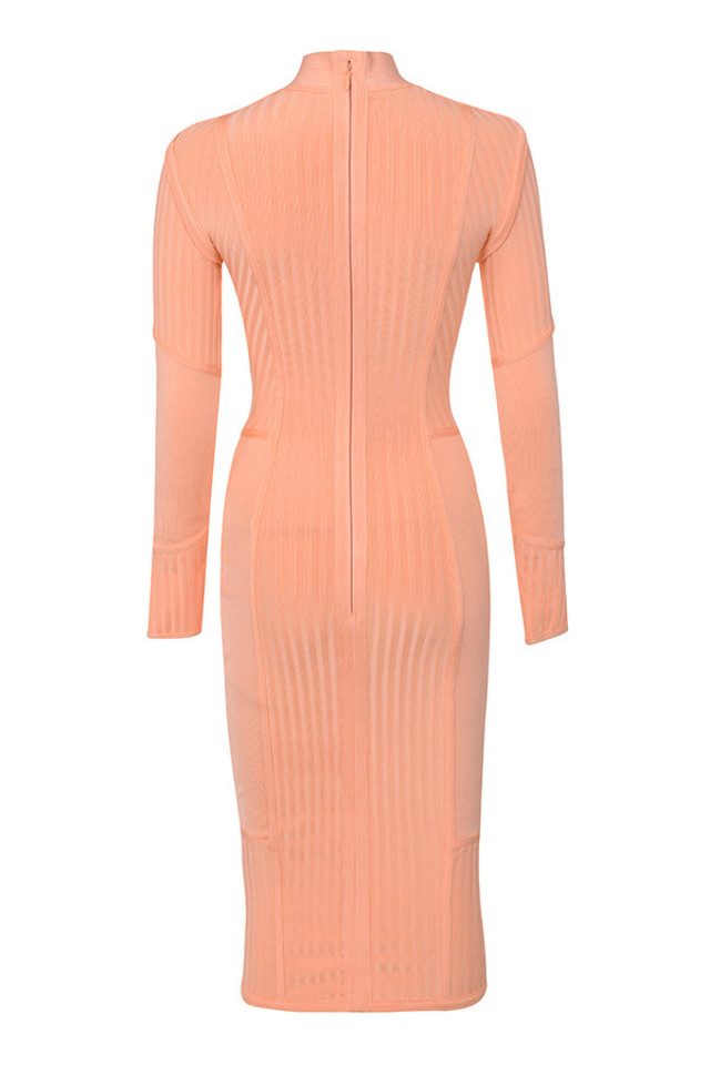 dana dress in peach