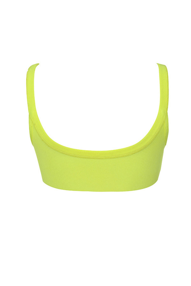 elle top in neon yellow