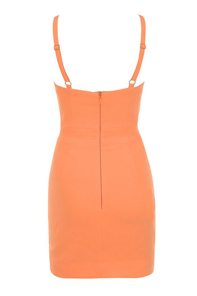 issa dress in orange