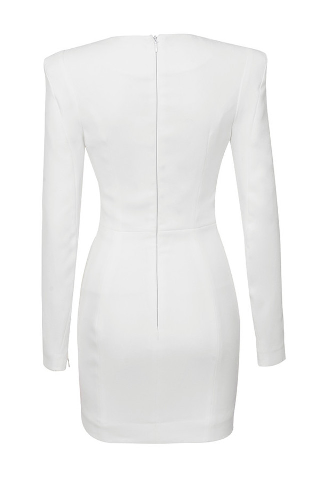 olinda dress in white