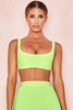 Elle Neon Lime Bandage Cropped Top