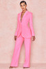 Christie Pink Crepe Tailored Trousers