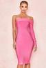 Nadine Pink Bandage One Shoulder Dress
