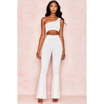 Catrice White Rib Knit Trousers
