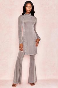 Carmen Grey Silky Jersey Trousers
