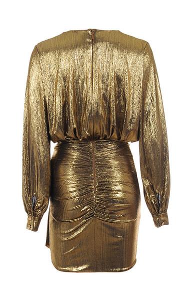 alvona dress in bronze