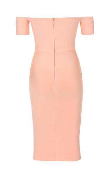 celia dress in peach