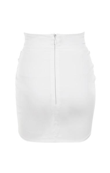 edwina white in skirt