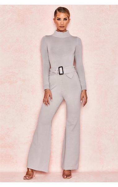 Naomie Grey Fine Knit Trousers