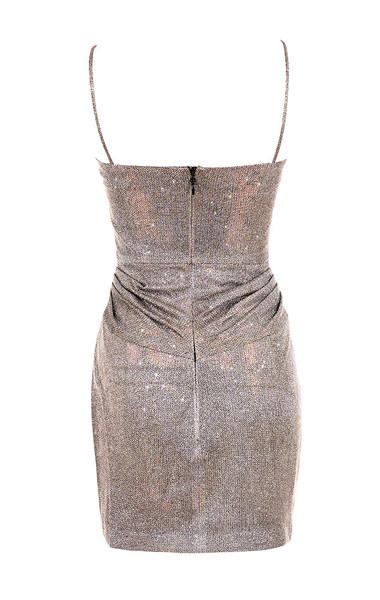socorro dress in bronze