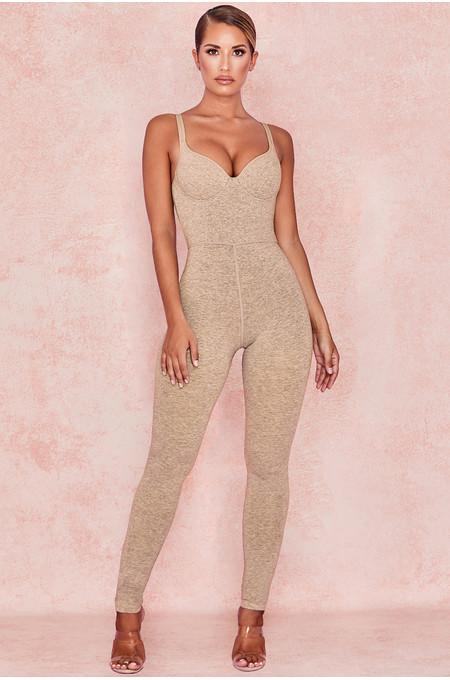 Kalani Biscuit Soft Loungewear Jumpsuit