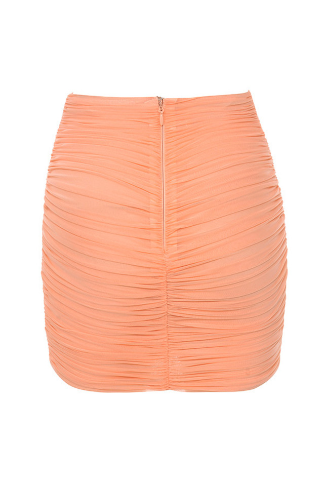 aubrey skirt in peach