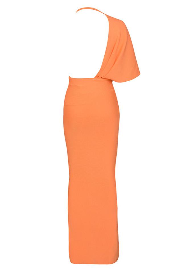 clemence dress in orange