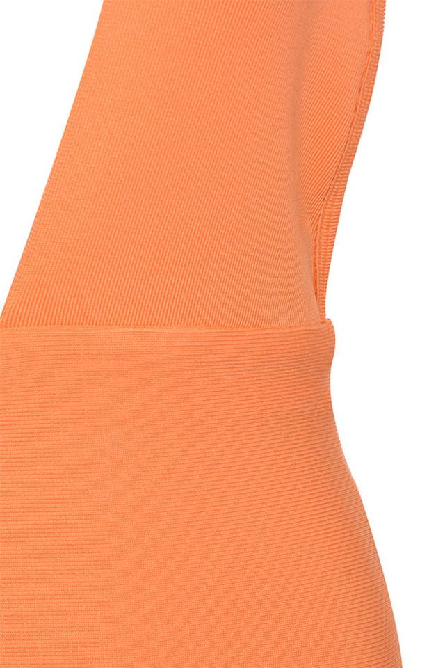 orange clemence dress