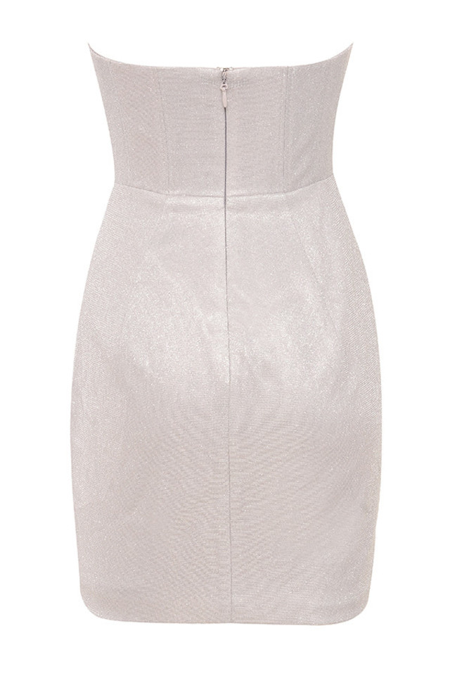 eevi dress in silver