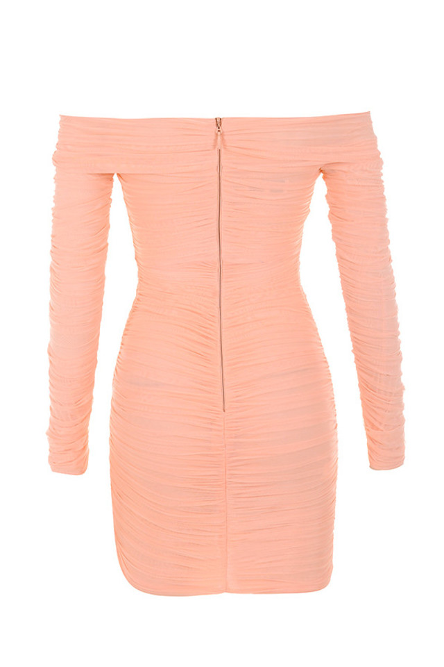 felicity dress in peach