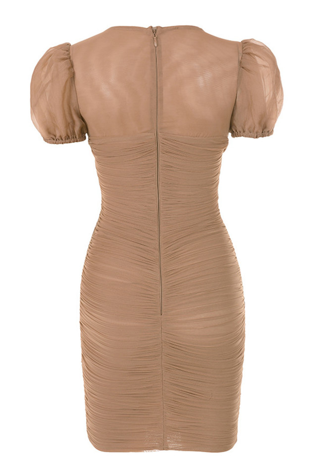 marcia dress in tan