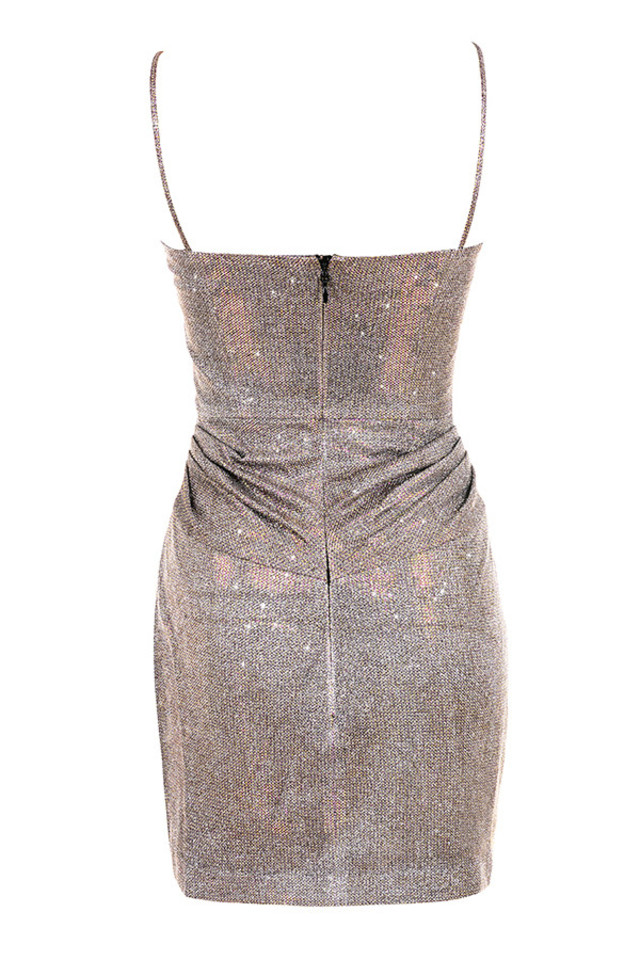 socorro dress in bronze