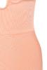 peach celia dress