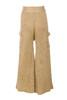 lila trousers in camel