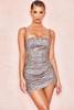 Socorro Sparkle Mini Drape Dress