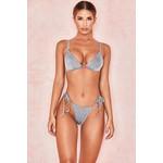 Dazzle Silver Lurex Triangle Bikini