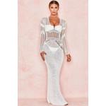 Graciela White Backless Crochet Maxi Dress