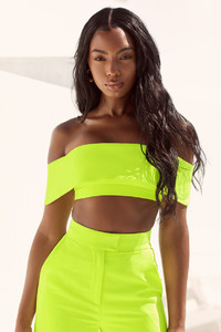 Melissa Neon Green Off Shoulder Bandeau Top