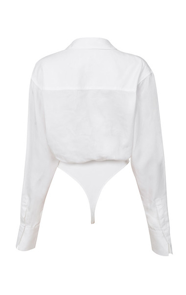amelia bodysuit in white
