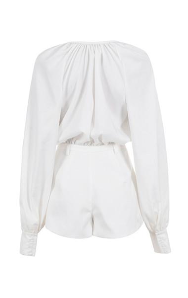 arora playsuit in white