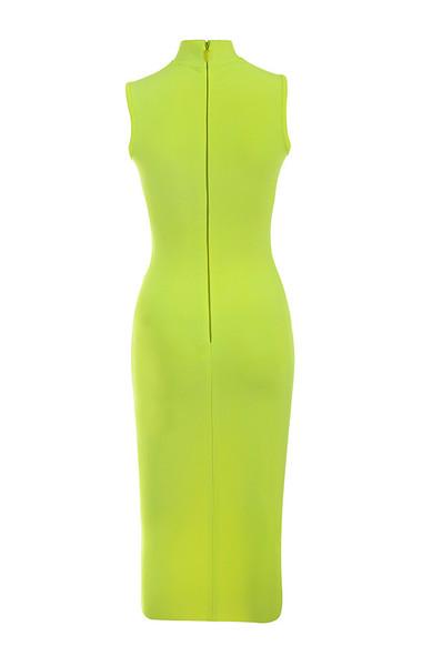flavia dress in lime