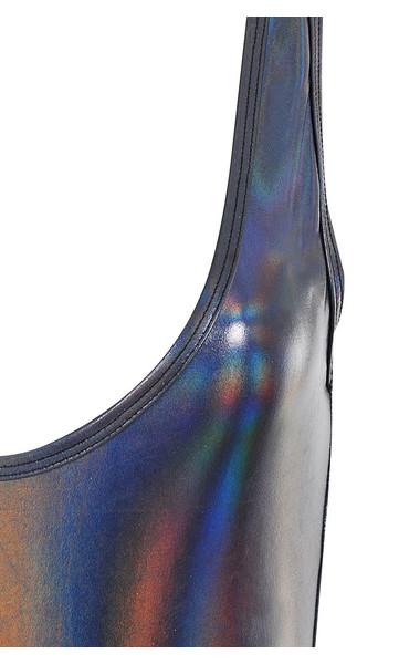 nereid top in black iridescent