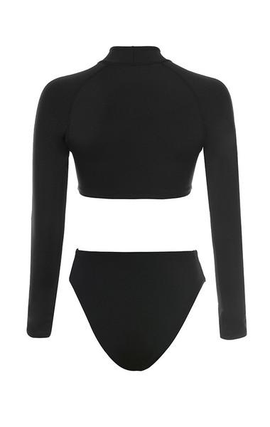 ravine bodysuit in black