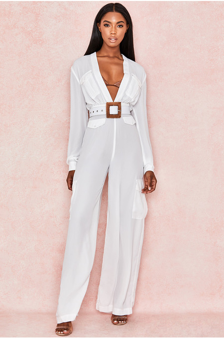 Adabelle White Georgette Jumpsuit