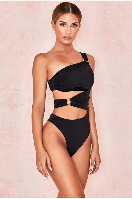 Dione Black Cut Out One Piece Swimsuit