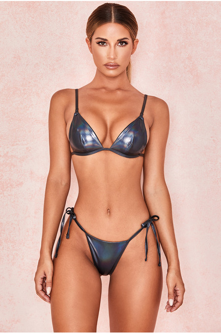 Sylph Black Iridescent Triangle Bikini