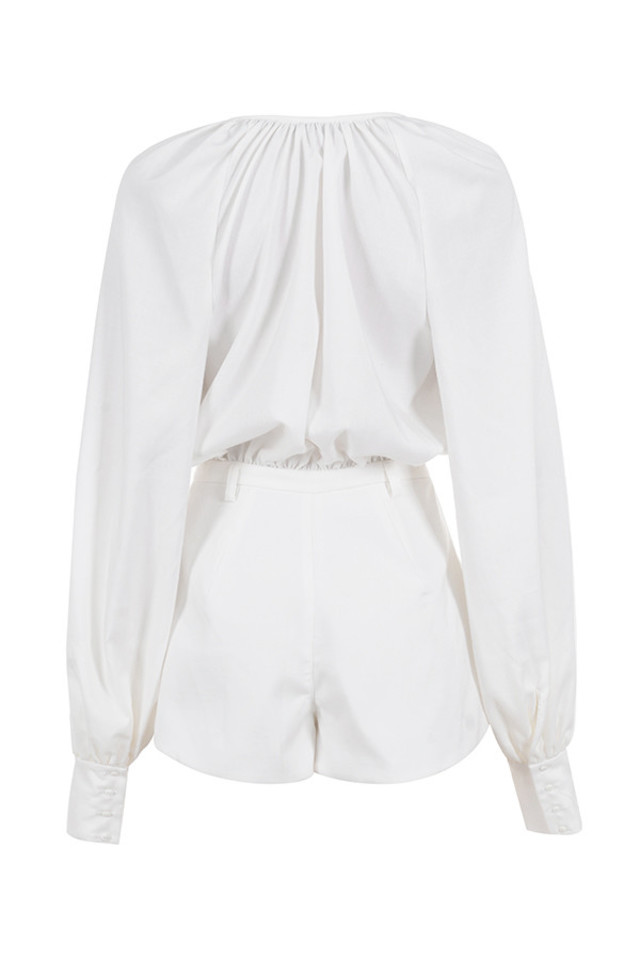 arora playsuit in white