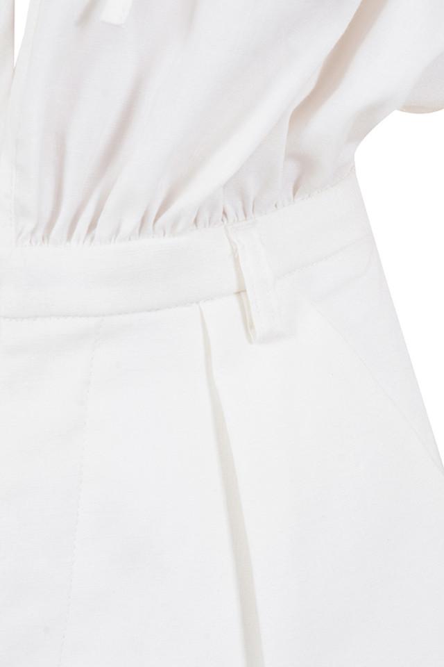 white arora playsuit