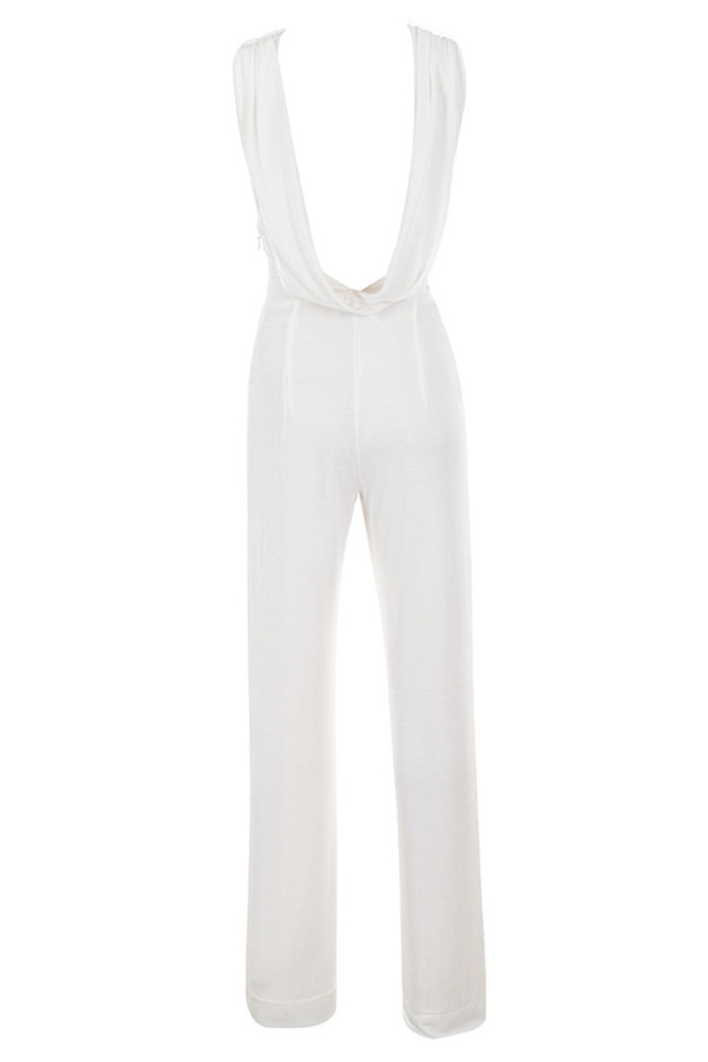 davida jumpsuit in white
